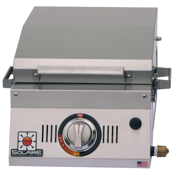 1 Solaire AllAbout Single Burner Portable Infrared Grill open
