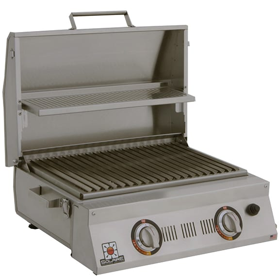 Solaire AllAbout Double Burner Portable Infrared Grill open 1