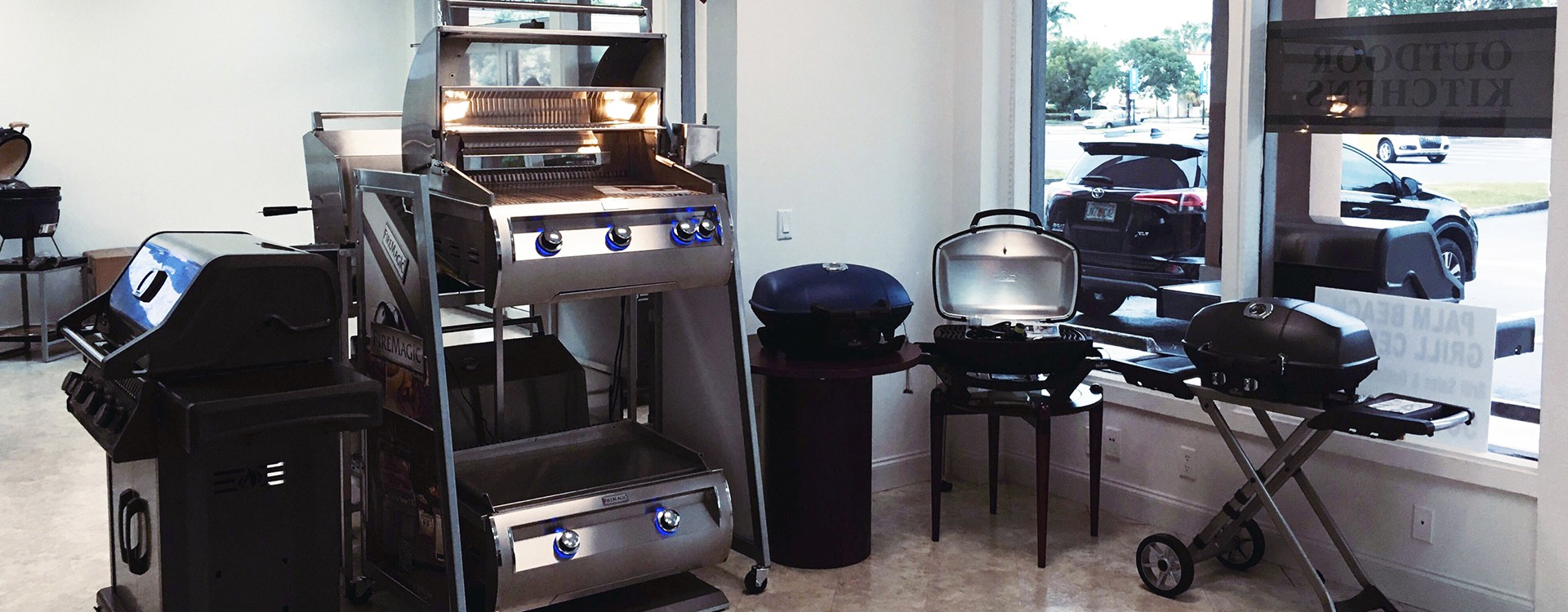 Palm Beach Grill Center Werst Delray Beach location store images featuring BBQ Grills, Outdoor Kitchens and Gas Fire Products 2