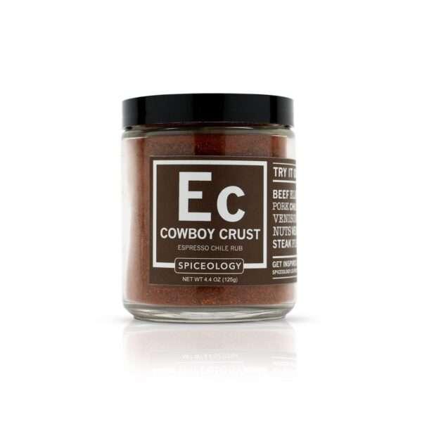 Spiceology Cowboy Crust Espresso Chile Rub Glass Jar Glass Jars