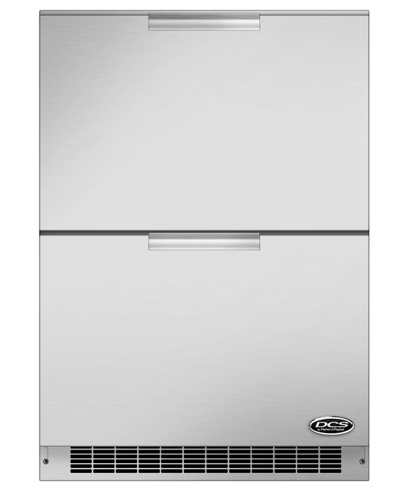 """DCS 24"""" Double Refrigerator Drawers"""